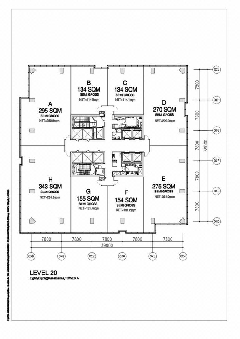 Jual BU Office 88 Kasablanka luas 134 sqm